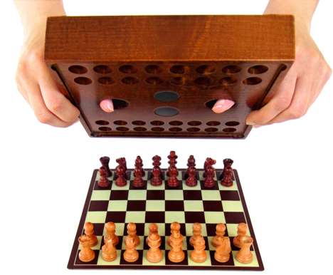 Organized Magnetic Chess Sets - The 'Preset Chess' Travel Chess Set Keeps Pieces Ready to Play