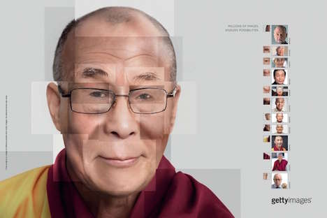 Intricate Face Collage Ads - These Face Collages By Getty Images Recreate Iconic Figures