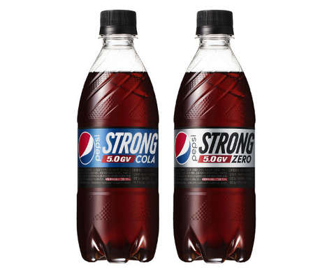 Extra-Strong Carbonated Drinks - Pepsi Strong 5.0GV Features Five Times More Carbonation