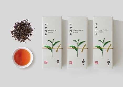 Asian-Inspired Tea Packaging - Hong Fresh Tea Labs Boasts Simple and Natural Branding
