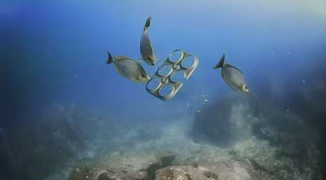 Biodegradable Six-Pack Rings - These Sick-Pack Rings Double as Fish Food & Cause Less Harm & Danger