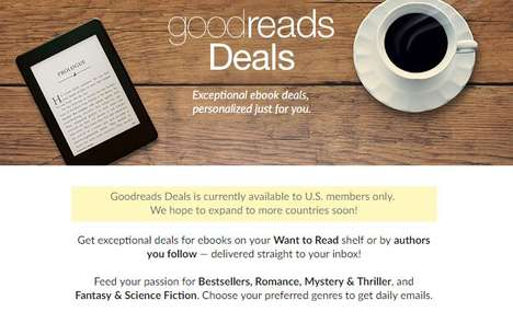 Discounted eBook Services - Goodreads Now Has a Service to Offer Users Extra Affordable eBooks
