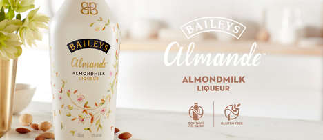 Almond Milk Liqueurs - The Newest Baileys Liqueur is Made with Almond Milk
