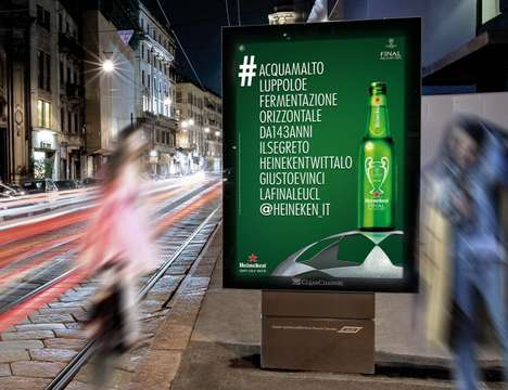 Lengthy Hashtag Billboards - These Heineken Ads Show the Beer's Complete Ingredient List