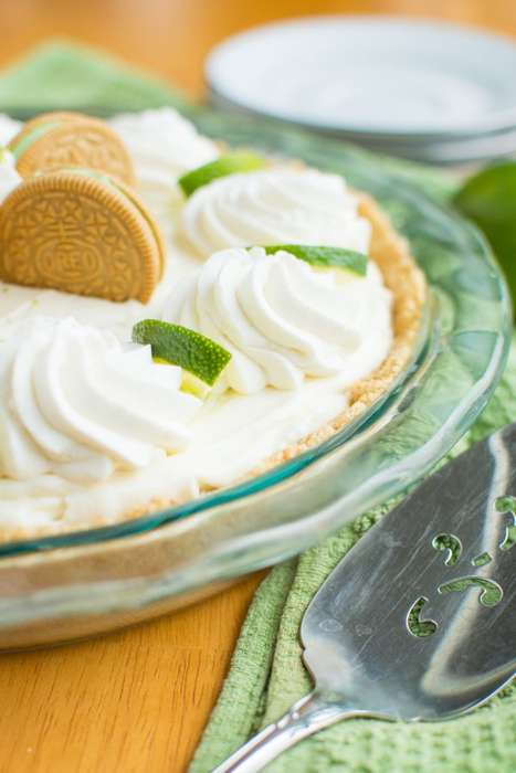 Chocolate Lime Pies - This Key Lime Oreo Truffle Cream Pie Recipe is New Variation on a Classic