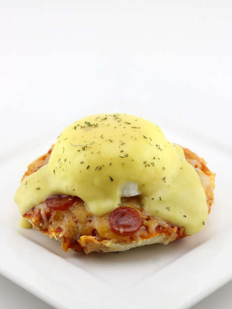 Egg Benedict Pizzas - This Untraditional Benedict Recipe Comes a Classic Brunch with a Pizza