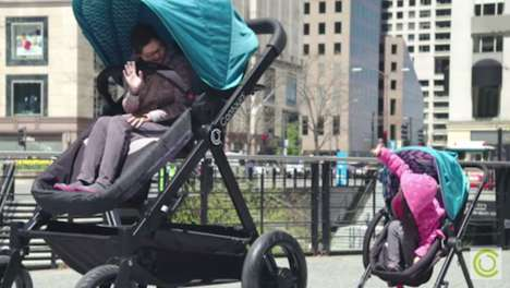 Adult-Sized Strollers - Kolcraft and FCB Chicago Create an Enlarged Version for Parents to Test Out