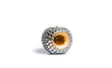 Jewel-encrusted Rotten Fruits - Luciana Rondolini Explores the Idea Between Appearance and Reality