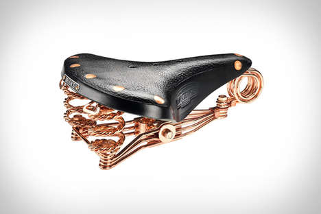 Upscale Bike Saddles - The Brooks 150th Anniversary Saddle is Crafted Using Copper and Leather