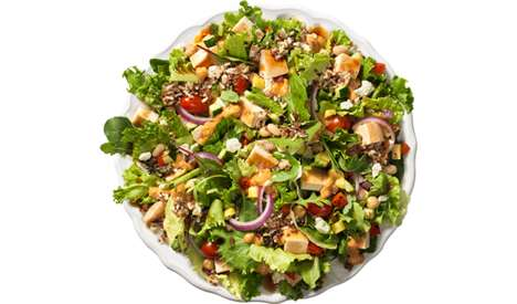 Nutrient-Rich Fast Food Salads - The Power Mediterranean Chicken Salad is High in Protein and Fiber
