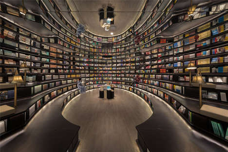 Optical Illusion Bookstores - XL-MUSE Creates a Unique Library Experience in China