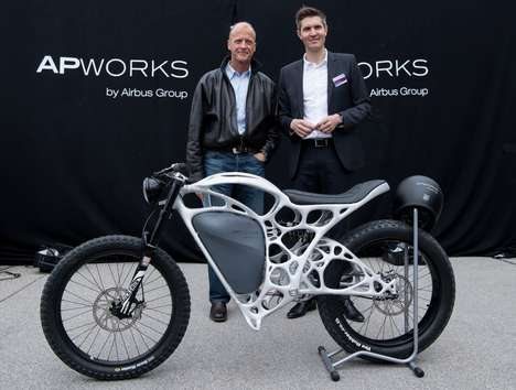 3D-Printed E-Motorbikes - Airbus' 'Light Rider' is 30% Lighter Than Most Electric Motorcycles