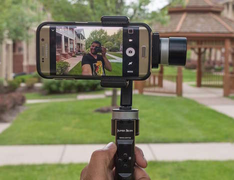 Smartphone Photography Stabilizers - The 'KumbaCam' Smartphone Gimbal Stabilizer is User-Friendly