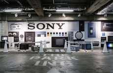The PAR-KING GINZA's Latest Exhibit Fetes Sony's 70th Anniversary