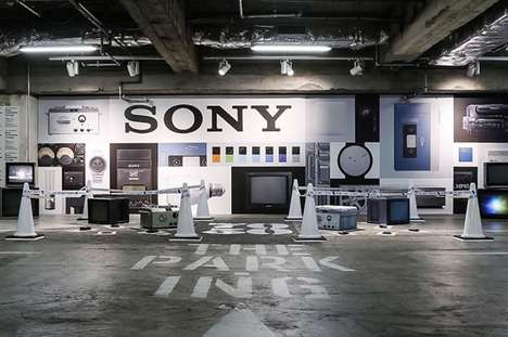 Tech Birthday Pop-Up Exhibits - The PAR-KING GINZA's Latest Exhibit Fetes Sony's 70th Anniversary