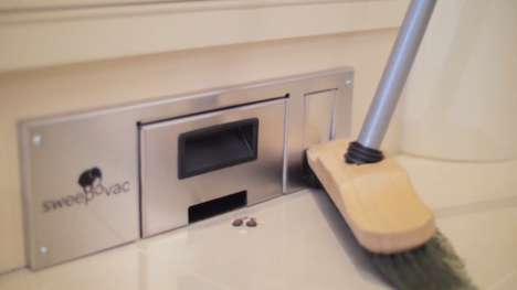 Built-In Wall Vacuums - The Sweepovac Eliminates the Need for Dustpans