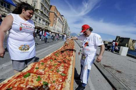 Record-Breaking Pizzas - A Group of Italian Chefs Created a Long Pizza That Spans Two Kilometers