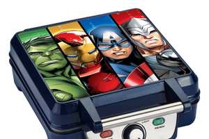 The Marvel Avengers Waffle Maker Imprints Logos into Edibles