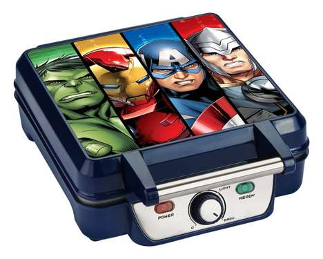Superhero Waffle Makers - The Marvel Avengers Waffle Maker Imprints Logos into Edibles
