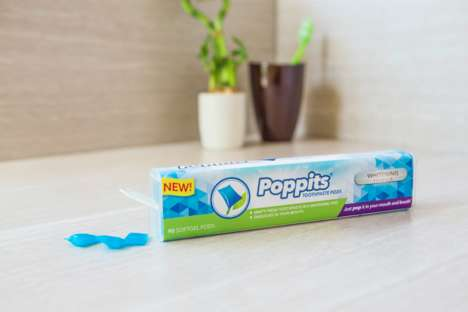 Portable Toothpaste Pods - Poppits' Eco-Friendly Soft Gel Pods Do Away with Plastic Tubes