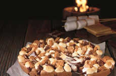 Marshmallow-Topped Pizzas - The Hershey's Toasted S'mores Cookie is a Pizza-Inspired Dessert