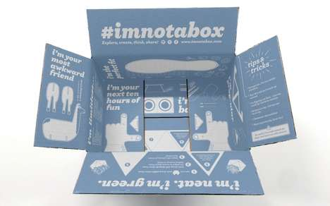 Reusable Retail Shoeboxes - Zappos' #ImNotABox Introduces a Transformative Shoebox Design