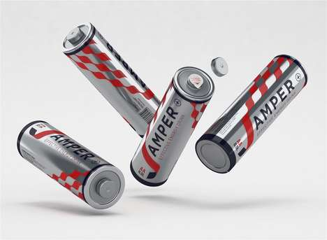 Battery-Inspired Drink Packaging - The J-Amper Energy Drink Bottle Correlates to Electrical Energy