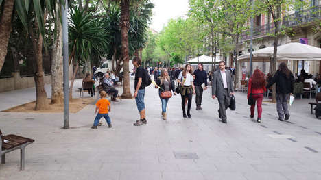 Pedestrian-Friendly Urban Initiatives - Barcelona's New Superblocks Return Road Space to Pedestrians