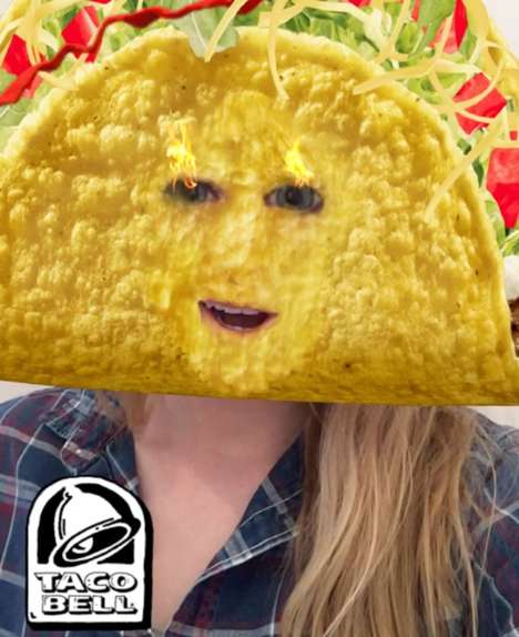 Taco Mask Snapchat Lenses - The Cinco De Mayo Taco Bell Snapchat Lens Was a Huge Success