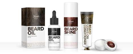 Beard Branding Concepts - Claudia Lepesqueur Explores a Kiehl's Beard Subcategory in Men's Care