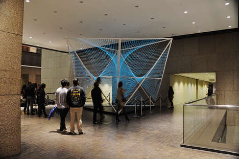 Interactive Motion Installations - The Lumibolic Electroluminescent Wire Sculpture Moves to Sound