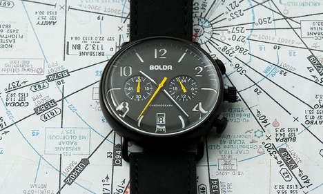 Travelling Journey Timepieces - The BOLDR Watch's Aesthetic is a Nod to Adenturers and Globetrotters