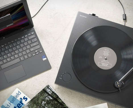 Convertable USB Turntables - The Sony Hi-Res Record Player Transforms Vinyl into Digital Audio Files