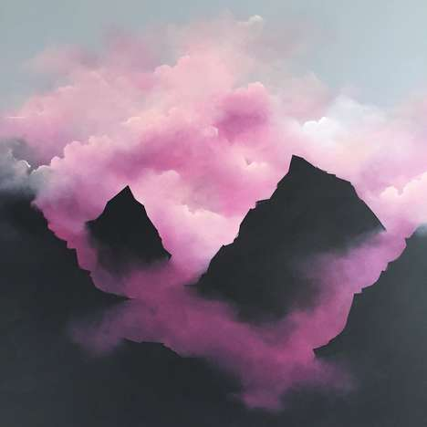 Pastel Cloud Paintings - Brooklyn Whelan is Inspired by Graffiti and Weather Patterns