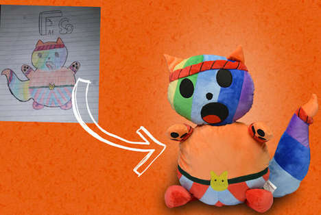 Illustrative Stuffed Animals - Crayola Imaginables Transforms Children's Sketches into Plush Toys