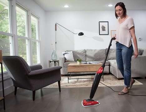 Multi-Surface Steaming Mops - The O-Cedar Microfiber Steam Mop Works on Hard and Soft Surfaces