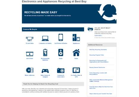 Consumer Recycling Programs - The Best Buy Recycling Program Accepts Used Tech and Applicances
