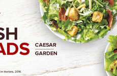 Balanced Fast Food Menus - The Tim Hortons Fresh Salads Provide Customers with Healthier Options