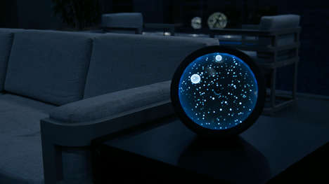 Astronomical Clock Designs - The Cosmos Clock Combines Mood Lighting with an Unusual Time Concept