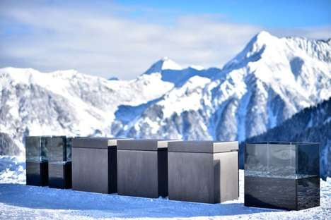 Rugged Outdoor Kitchens - The Steininger 'Rock Air' Outdoor Kitchen Design is Crafted in Austria