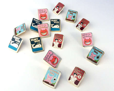 Literature-Inspired Pins - Jane Mount Created These Adorable Book Pins Inspired by Classic Works