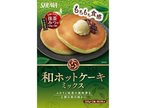 Antioxidant Matcha Pancakes - The Wa Green Matcha Tea Hotcake Mix is Designed for Quick Meal Prep