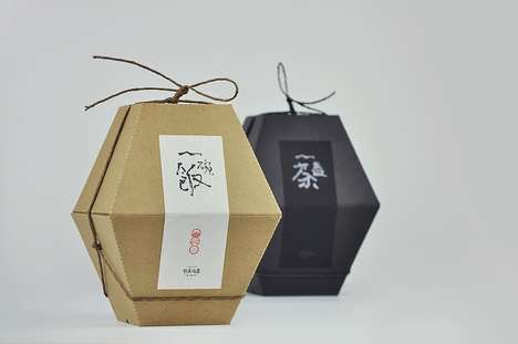 Sectioned Hexagon Rice Packaging - This Bowl of Rice Packaging is Inspired by Chinese Tradition