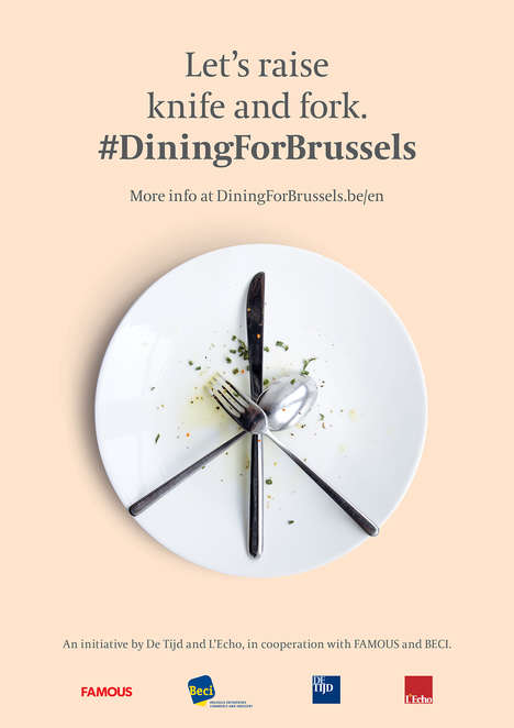 Restaurant-Saving Campaigns - #DineForBussels Looks to Boost Restaurant Economy Post Brussels Attack