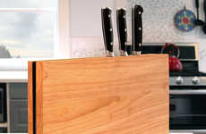 The Chop Cutting Board Conceals Kitchen Knives Inside for Easy Clean-Up