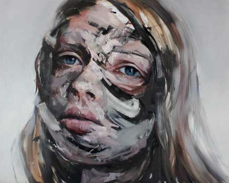 Identity Crisis Portraits - Daniel Martin Paints Dark Artworks of People Living in a Painful Limbo