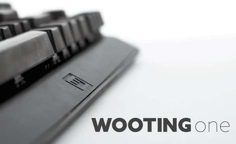 Pressure-Sensitive Keyboards - 'Wooting' Mechanical Keyboards React to Differing Levels of Pressure