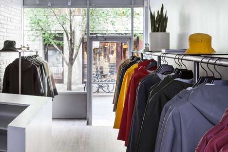 Organic Outerwear Retail Stores - The Stutterheim New York Flagship Store is Naturally Minimal