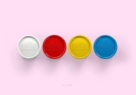 Simplistic Modeling Clay Ads - These Minimalist Ads Give Ideas for Play-Doh Creations