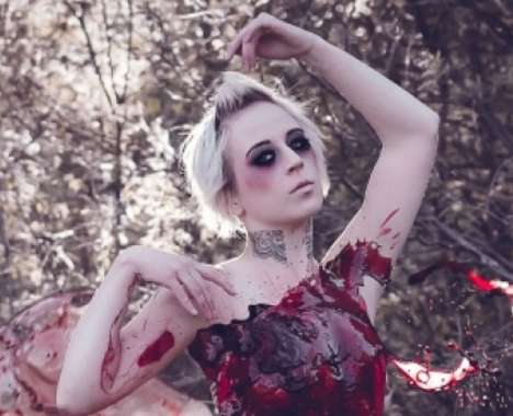 Blood Dress Photo Shoots